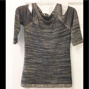 Sparkling ✨ Armani Exchange cold 🥶 shoulder top!